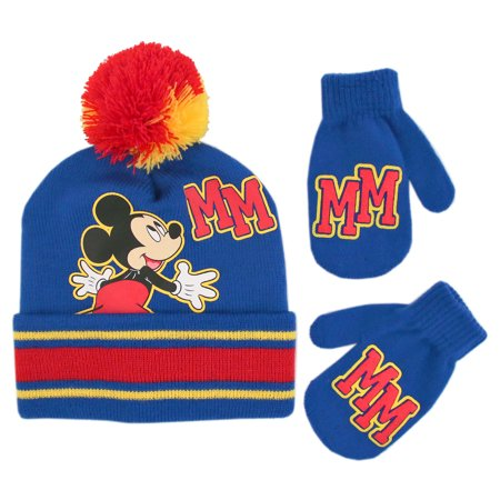 284759f784f Disney - Disney Mickey Mouse Hat and Mittens Cold Weather Set ...