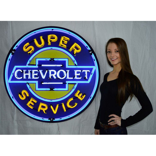 Neonetics Super Chevrolet Service Neon Sign