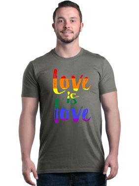 6a4fc34a7bfbc0 Product Image Shop4Ever Men s Love is Love Rainbow Gay Pride Graphic T-shirt