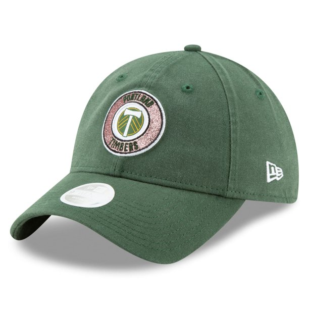 Portland Timbers New Era Girls Youth Patched Sparkle 9TWENTY Adjustable Hat - Green - OSFA