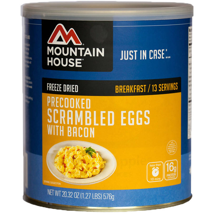 Mountain House Freeze Dried Scrambled Eggs with Bacon Can
