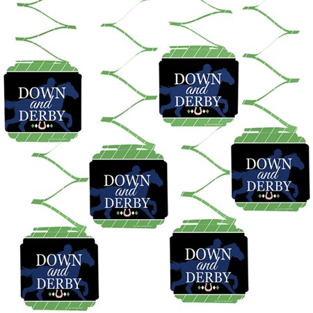 Kentucky Horse Derby - Horse Race Party Hanging Decorations - 6 Count - Kentucky Derby Decorations Ideas