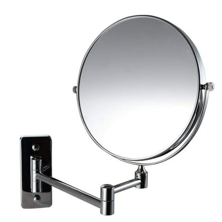 Magik 10x Magnification Two-Sided Swivel Wall Mount Mirror 8-Inch, Polished Chrome (10X)
