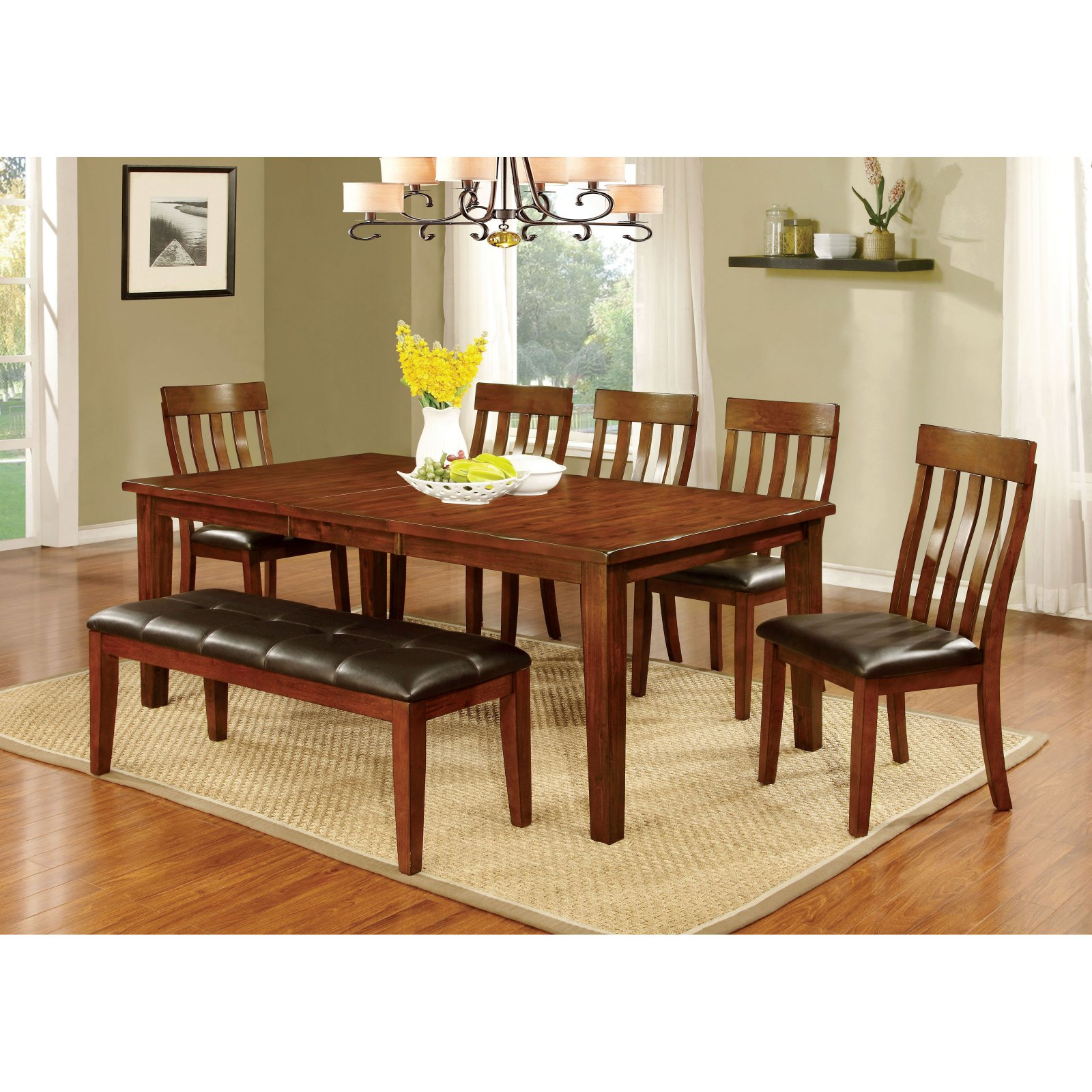 Furniture of America Ginsberg Transitional Dining Table