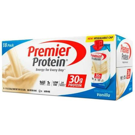 Premier Protein Vanilla Shakes  18  11Oz Shakes