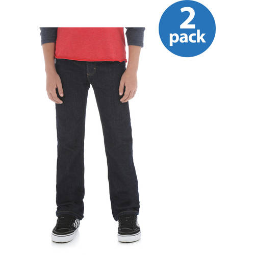 Wrangler Boys' Classic Slim Straight Jean, 2 Pack Your Choice