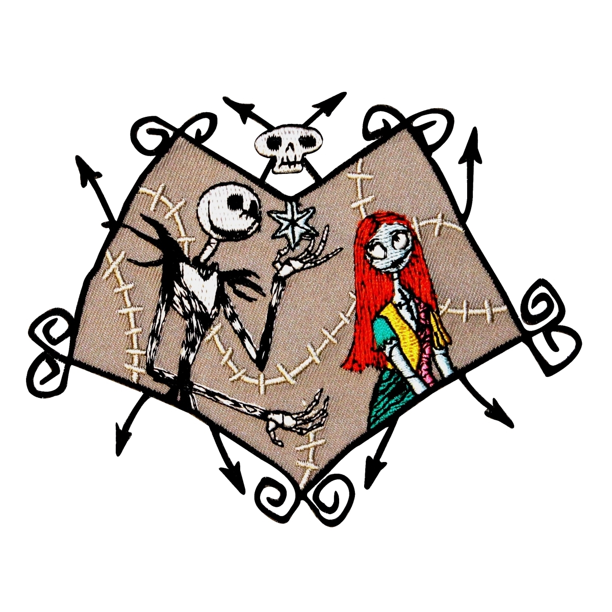 Jack & Sally in Love Nightmare Before Christmas Disney Iron-On Applique Patch