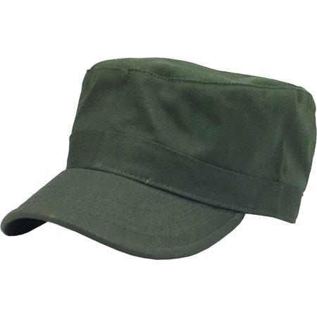 Cadet Army Military Fitted Botton Cap Basic Everyday Castro Radar Hat -  Walmart.com b2a4fa6eaee