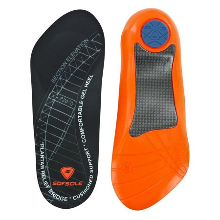 Sof Sole Men's Plantar Fasciitis Orthotic Insoles