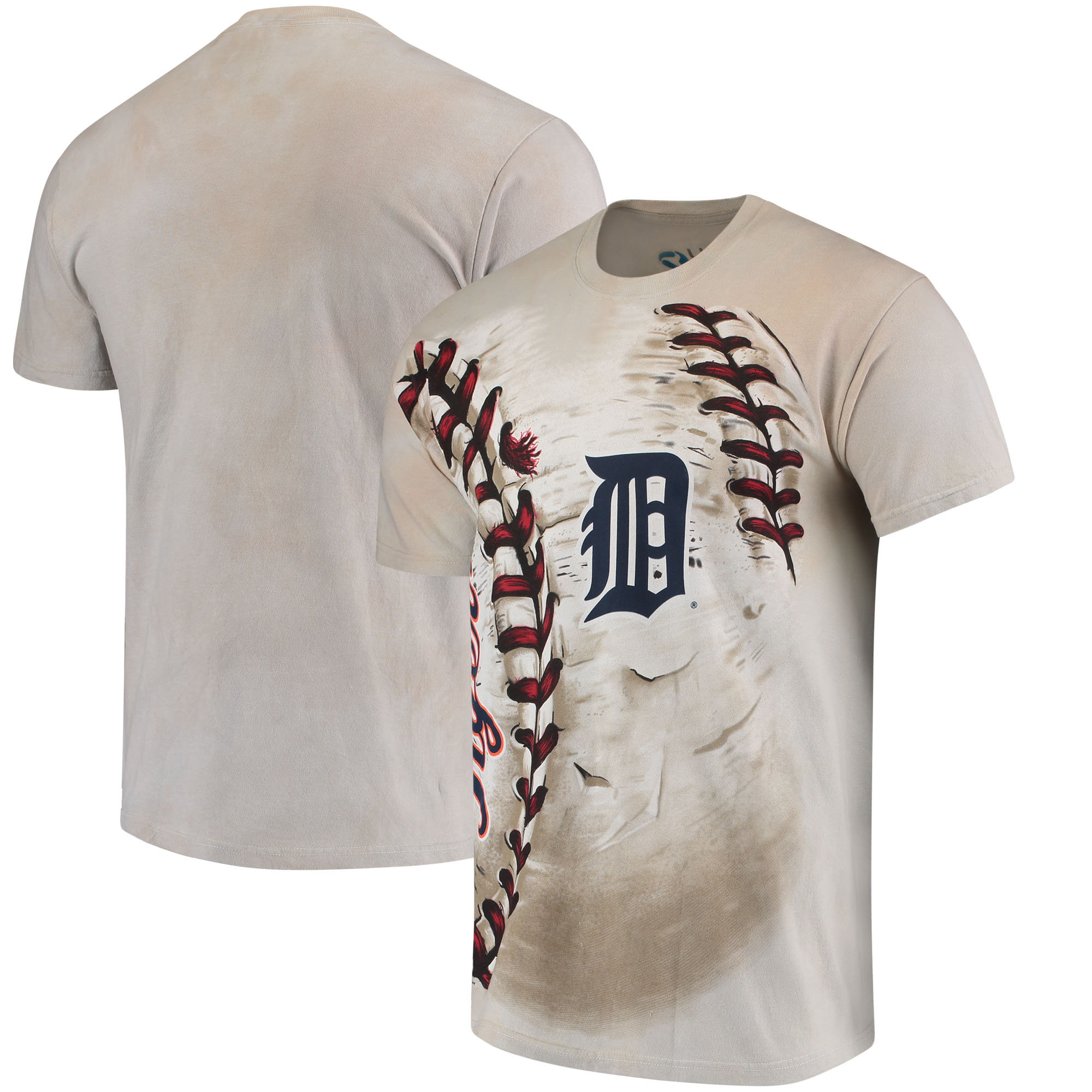 Detroit Tigers Hardball Tie-Dye T-Shirt - Cream