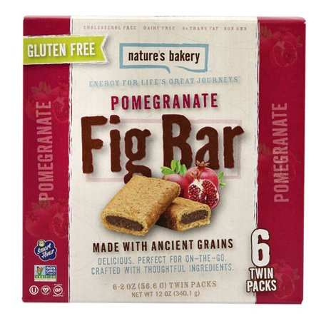 Natures Bakery Fig Bar, Pomegranate, 2 Oz, 6 Ct (Rustic Bakery Cookies)