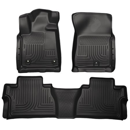 Bv Cab - Husky Liners Front & 2nd Seat Floor Liners Fits 14-18 Tundra CrewMax Cab