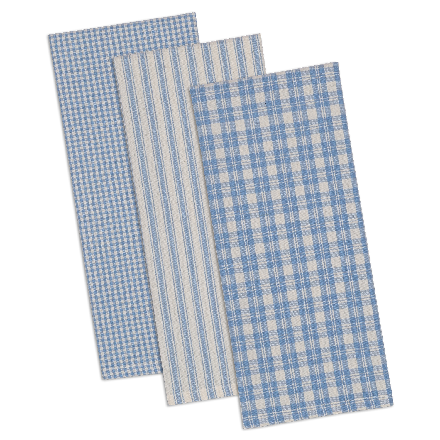 Design Imports Classic Dishtowel Set (Set of 3), Dusk Blue