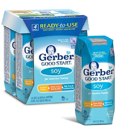 Gerber Good Start Soy Infant Formula 8.45 Carton, Ready t...