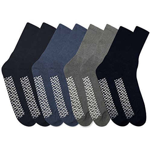 8 Pairs of Nobles Men's Assorted Comfortable Slipper Socks Size 13-15