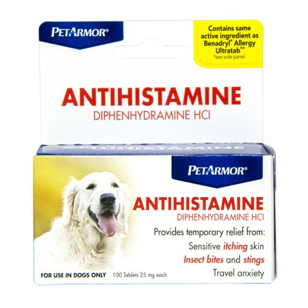 PetArmor Allergy Relief & Antihistamine for Dogs, 100 Tabs ()