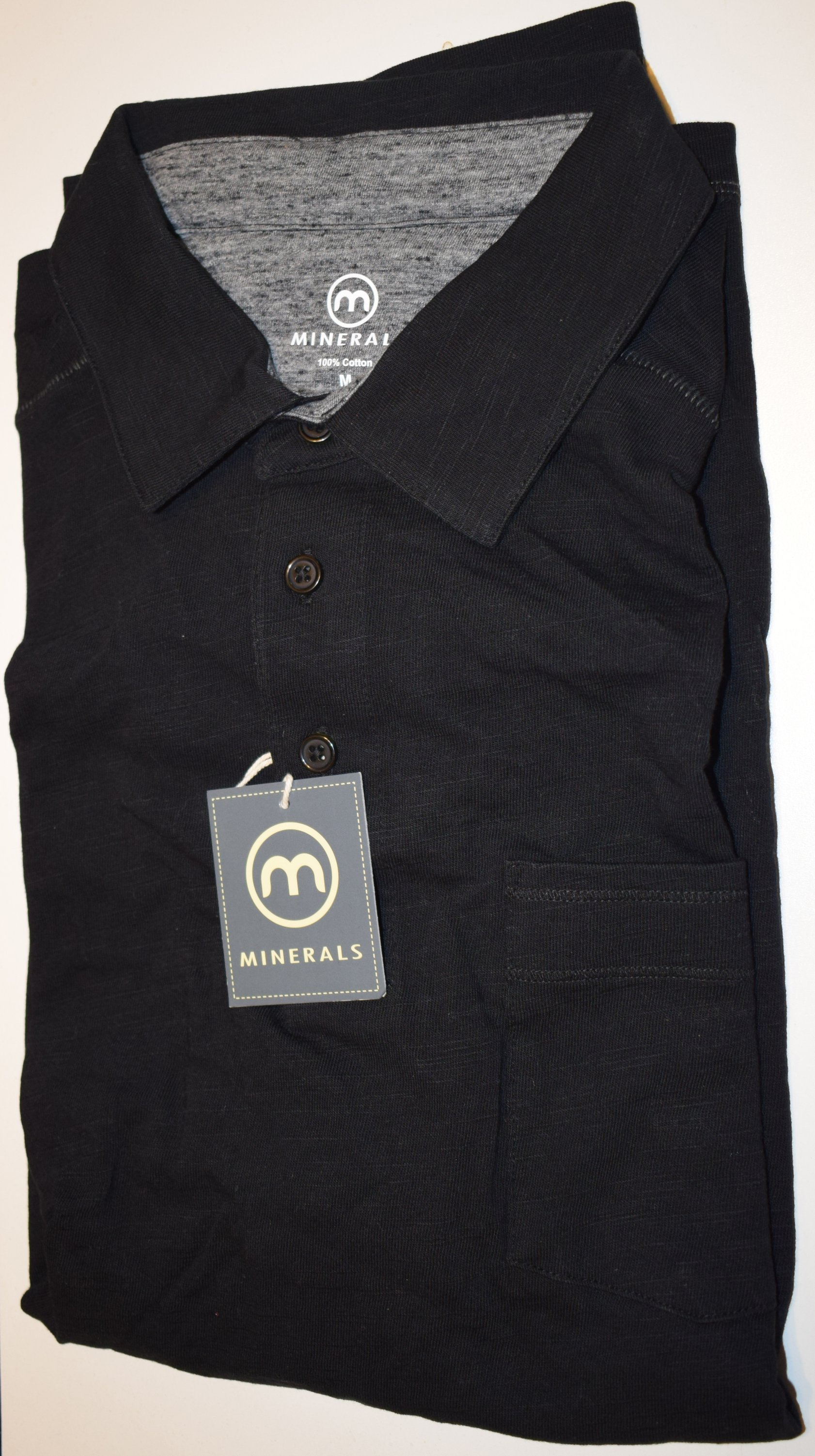 MINERALS Mens Clothing Cotton Polo Shirt