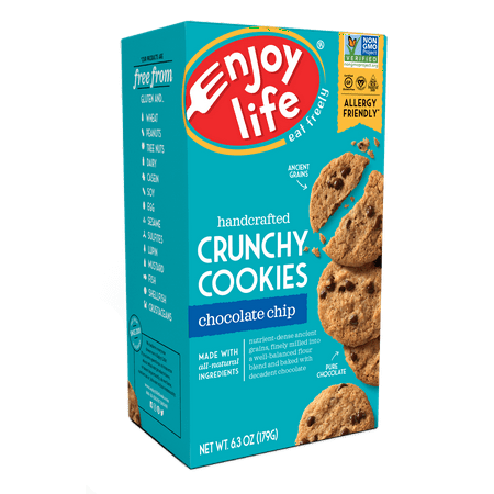Enjoy Life Foods Gluten Free, Allergy Friendly Chocolate Chip Crunchy Cookies, 6.3 oz