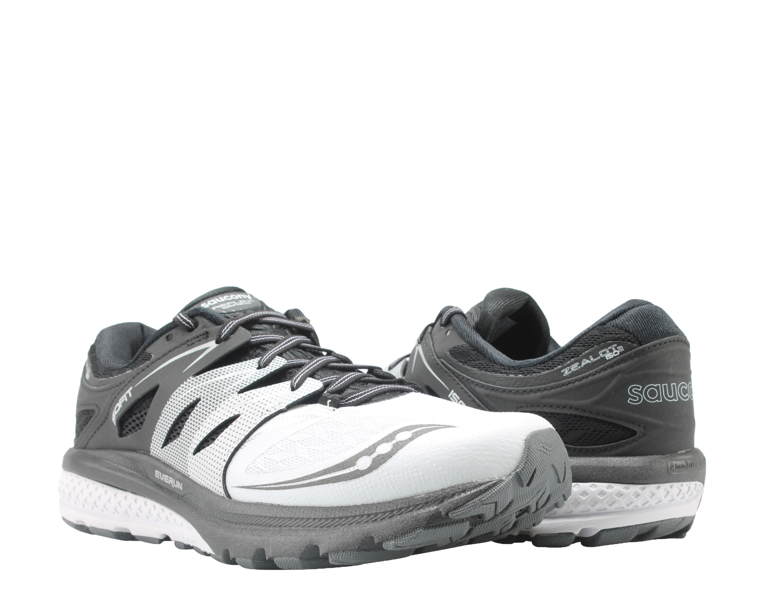 Saucony Zealot ISO 2 White Black Silver Men's Running Shoes S20332-1 by Saucony