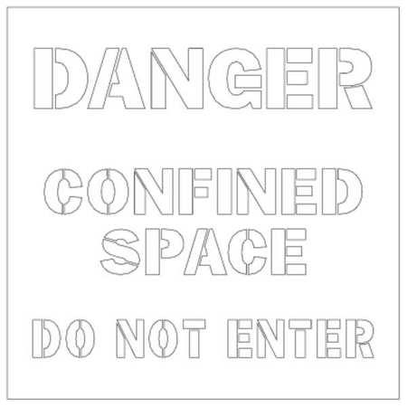 ELECTROMARK S483 Floor Stencil, Space Do Not Enter, Poly