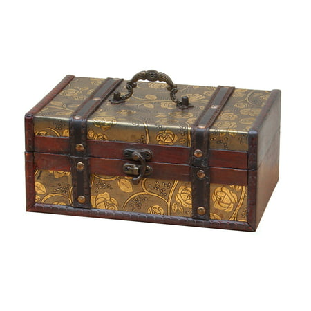 Decorative Leather Treasure Trunk Box