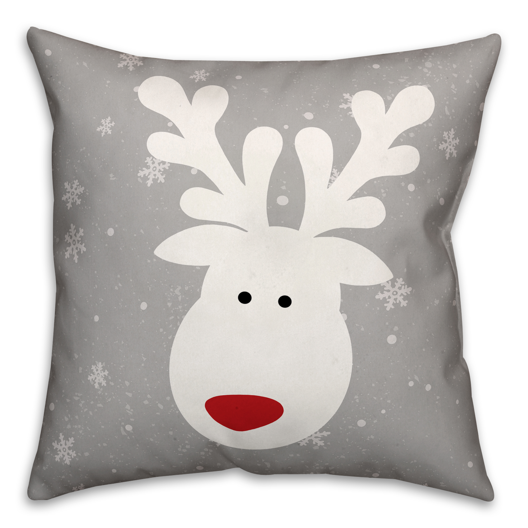 Cute White Deer 16x16 Spun Poly Pillow