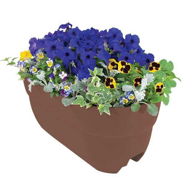 EmscoGroup 2445-1 Bloomers Rail Planter 24 inch Multi Planter - Brown