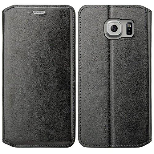 Galaxy S6 Edge Plus Case, Slim Folio [Kickstand] Pu Leather Wallet Case with ID&Credit Card Slot Phone Case for Samsung Galaxy S6 Edge Plus - Black