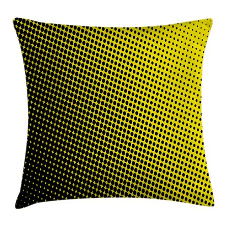 Yellow Decor Throw Pillow Cushion Cover Ombre Themed Yellow Amazing Small Decorative Throw Pillows