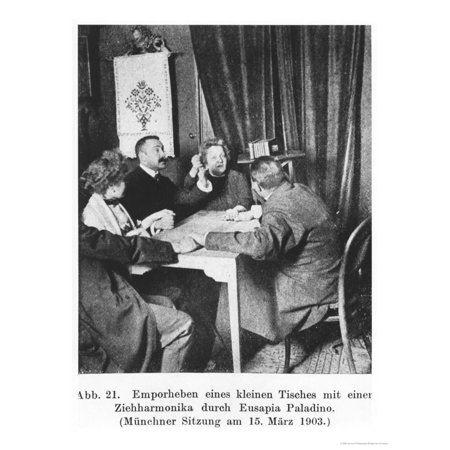 An Accordion Levitating During a Seance with Eusapia Palladino 15th March 1903 Print Wall Art