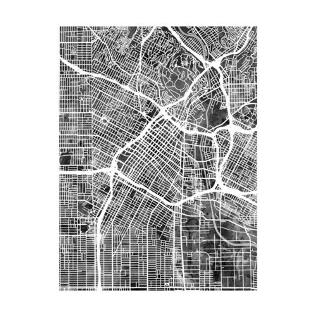 Los Angeles City Street Map Print Wall Art By Michael