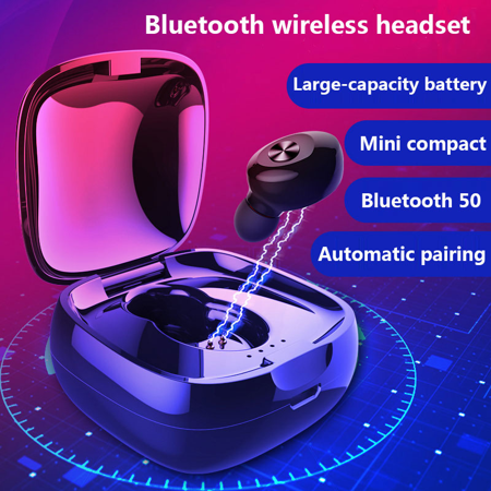 IPX5 Waterproof Headphone. Stereo earbud with microphone. Bluetooth V5.0 headset for Andriod and iPhone Smart Phones - image 13 de 13