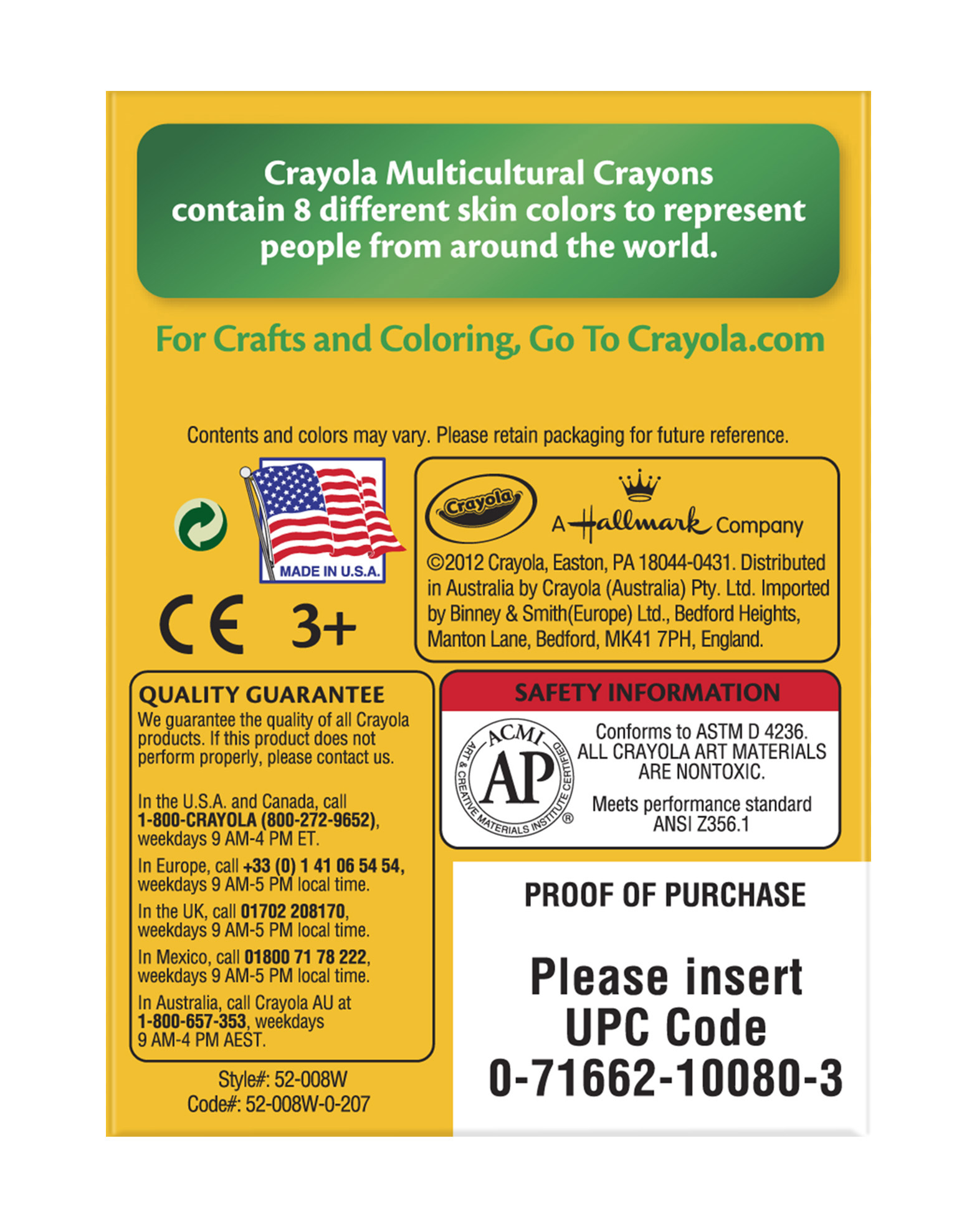 Crayola crayons 8 count in multicultural colors walmart nvjuhfo Image collections