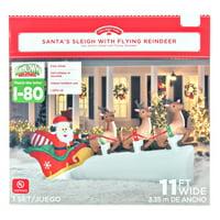 Holiday Time Santa Sleigh Inflatable, 11'