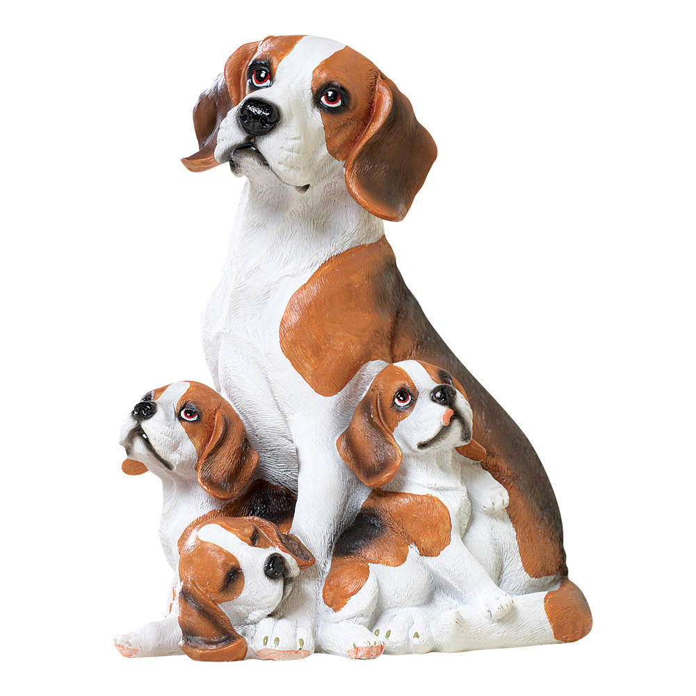 Ordinaire Collections Etc. Dog Breed Family Garden Statue Sculpture, Mama U0026 Puppies,  Beagle   Walmart.com