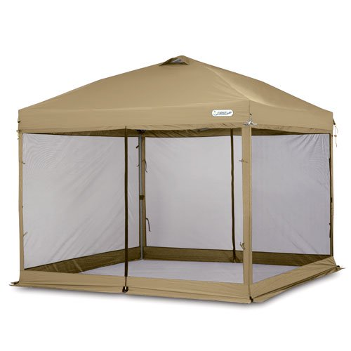 First-Up 10u0027 x 10u0027 Gazebo Screen Curtain ...  sc 1 st  Walmart & First-Up 10u0027 x 10u0027 Gazebo Screen Curtain Tan - Walmart.com