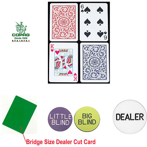 Trademark Poker Copag Plastic Playing Cards and Dealer Kit