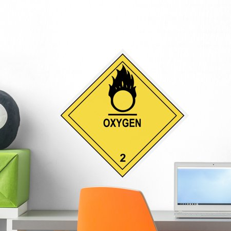 - Oxygen Warning Label Wall Decal by Wallmonkeys Peel and Stick Graphic (18 in H x 18 in W) WM162221