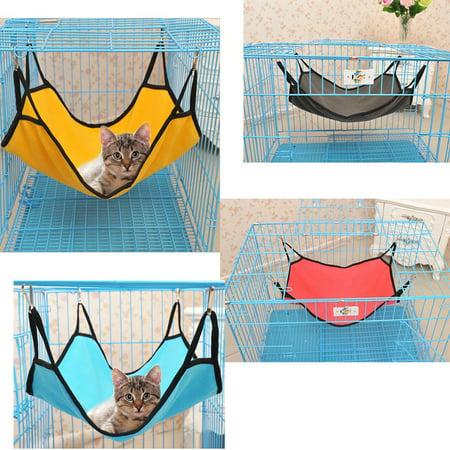 Cat Hanging Hammock Waterproof Fabric Bed Mat for Cage for Rabbit/Rat/Ferret - image 2 de 3