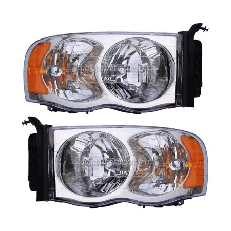 Pair Left Right Headlight Embly For Dodge Ram 1500 3500 2500 2002 2005
