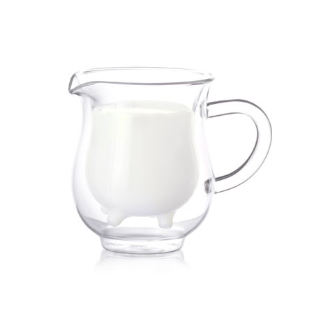 Epar © 8oz Strong Double Wall Insulated Borosilicate Thermo Glass Milk Creamer Pitcher