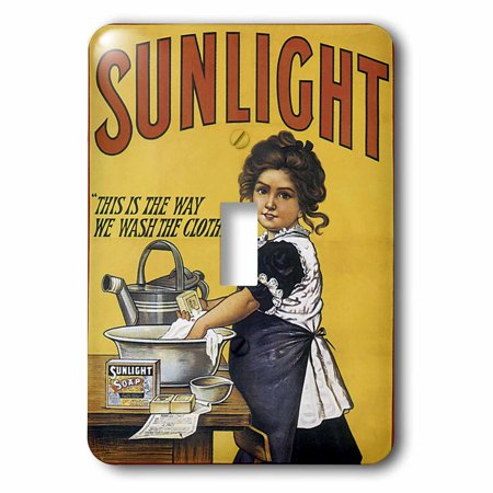 3dRose Vintage Sunlight Laundry Soap Advertising Poster - Single Toggle Switch (lsp_130016_1)