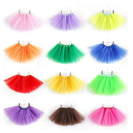 3 Layer Fashion Girls Kids Tutu Party Ballet Dance Wear Dress Skirt Costumes (Toddler Girls Swim Skirt)
