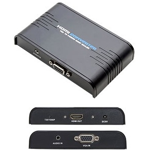 VGA TO HDMI VIDEO ADAPTER UP TO 1920X1200 CONVERTER W/ SCALER