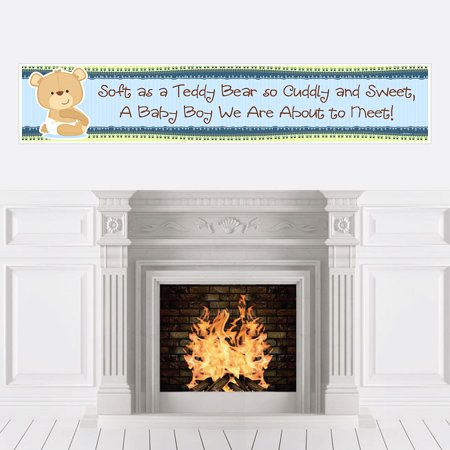 Boy Baby Teddy Bear - Baby Shower Decorations Party Banner - Care Bear Baby Shower