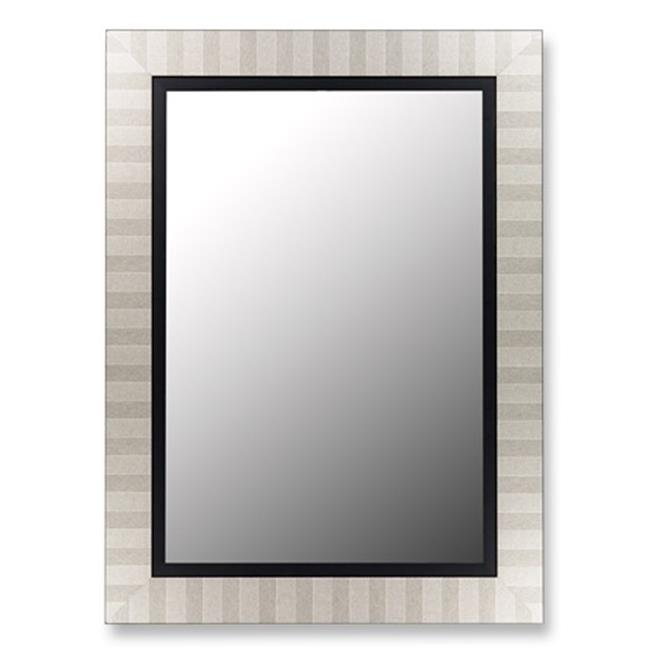 2nd Look Mirrors 253200 29x39 Parma Silver and Satin Black Liner Mirror by 2nd Look Mirrors