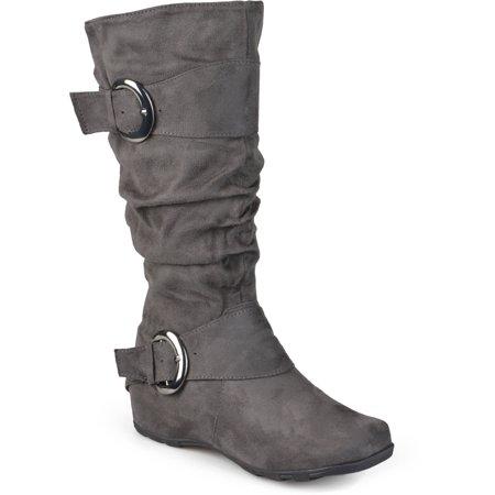 a8441438c32 Brinley Co. - Women s Slouchy Wide Calf Boots - Walmart.com