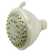Boston Harbor Shower Head, 2 gpm, 3 Spray Functions, 80 psi, White
