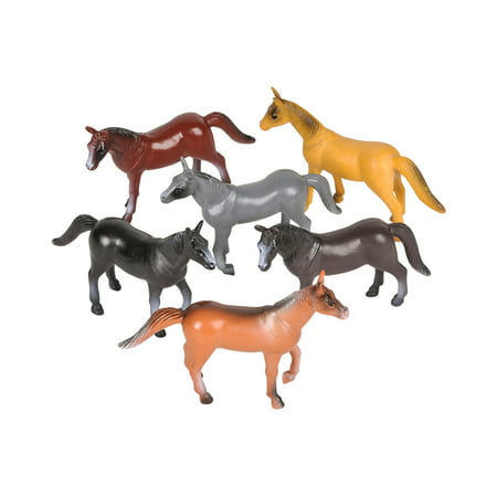 12 Count Miniature Plastic Toy Horse Figures Figurines Costume Accessory