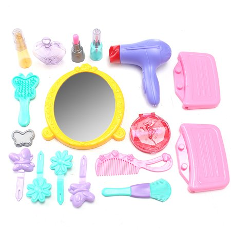 Girls Toy toysforgirl Vanity Beauty Cosmetic Bag Carry Case Hair Dryer Make Up Set Pink - image 4 of 8